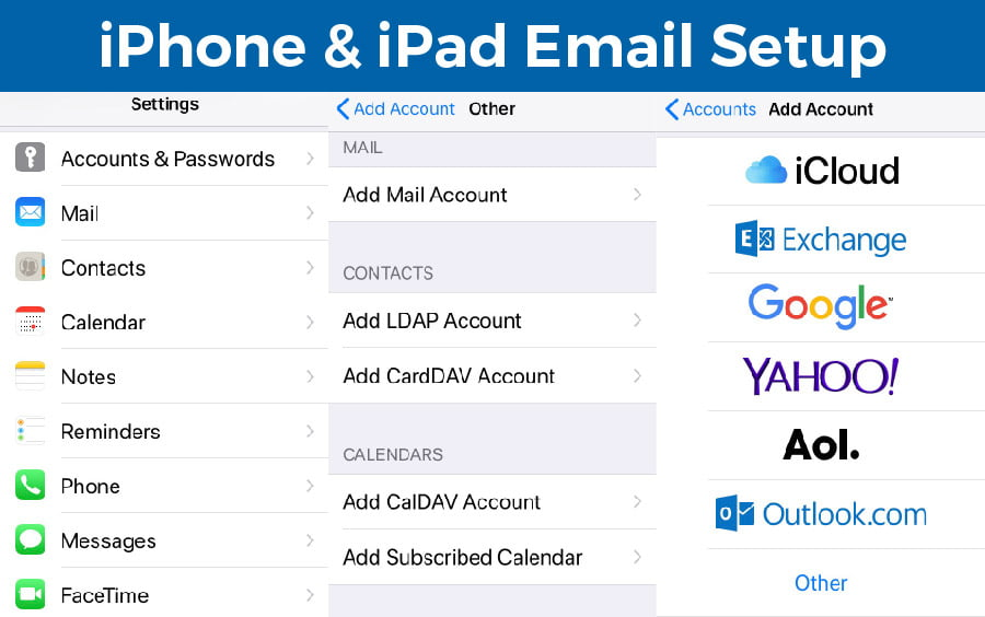 Setup Email Account on iPhone and iPad